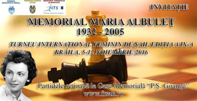 Sambata debuteaza a IX-a editie a Memorialului Maria Albulet