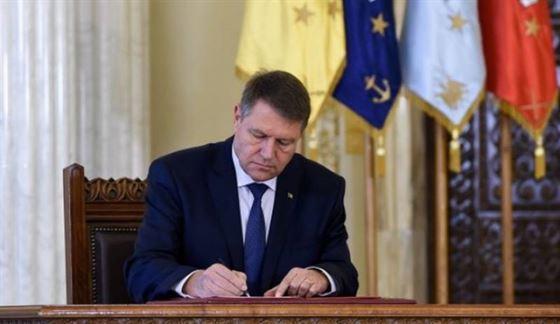 Iohannis a semnat decretul