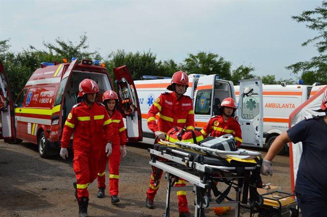 Exercițiu ISU Brăila: Intervenție de urgență la Gara CFR Lacu Sărat