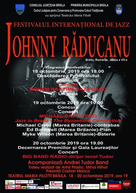 Vineri începe ediția a VII-a a Festivalului Internațional de Jazz JOHNNY RĂDUCANU