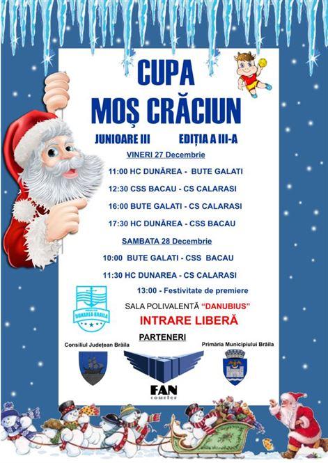 Vineri și sâmbătă se va disputa Cupa Moș Crăciun la handbal fete junioare III