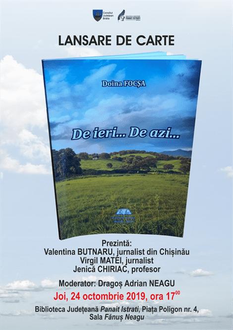 Lansare de carte la Bibliotea Județeană Panait Istrati