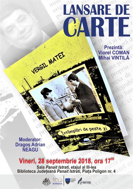 Lansare de carte a jurnalistului Vergil Matei