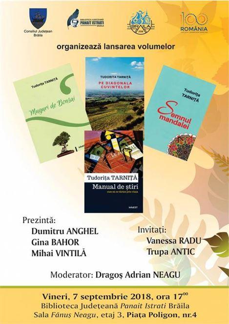 """Lansare de carte la Biblioteca Județeană """"Panait Istrati"""""""