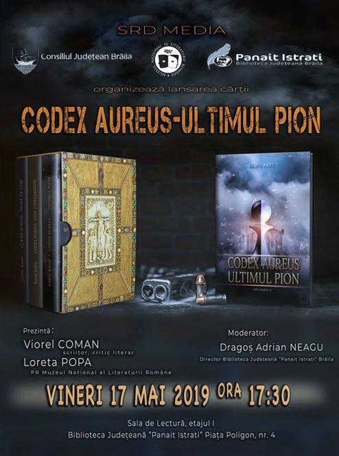 """Lansarea ultimului volum din trilogia """"Codex Aureus"""""""