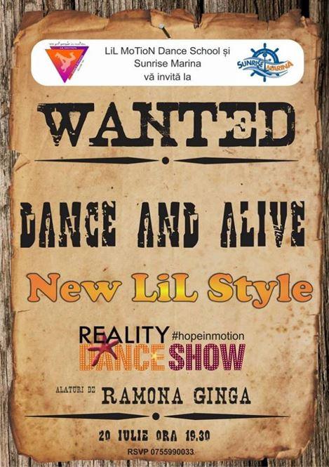 """Wanted Dance and Alive"" are loc vineri seara la Sunrise Marina"