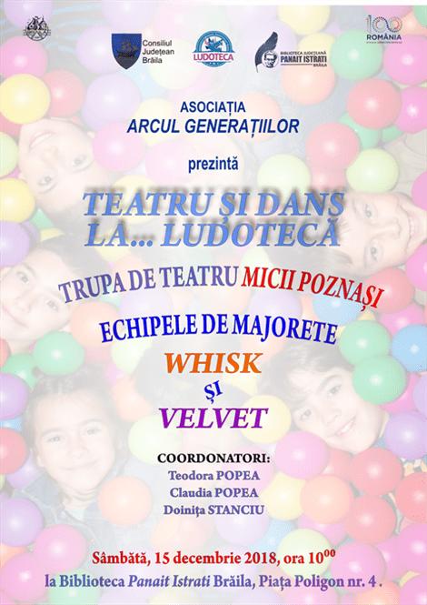 Spectacol teatru pentru copii la Biblioteca Județeană