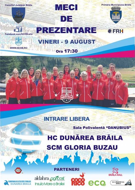 HC Dunarea isi prezinta lotul pe 9 august in Sala Polivalenta