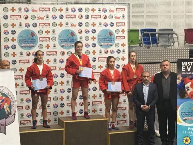 Teodora Naidin medaliata cu bronz la europenele de sambo
