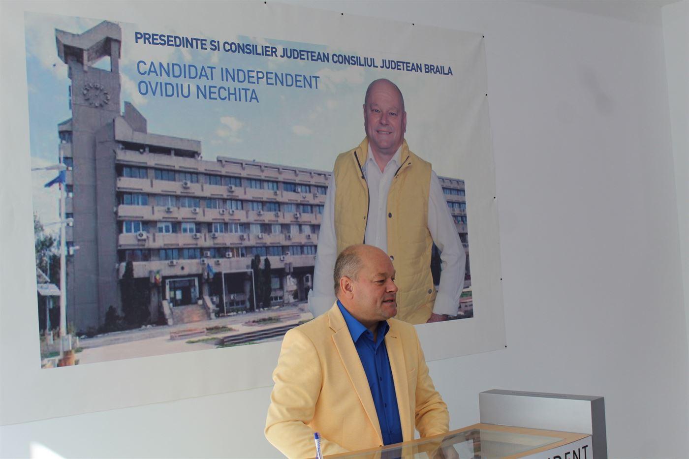 Primele 3 lucruri pe care le-ar face candidatul independent Ovidiu Nechita dacă va fi ales președinte CJ Brăila