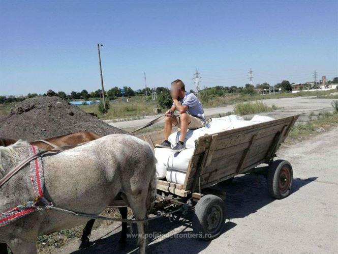 Polițiștii de frontieră brăileni au recuperat 880 kg de orz sustras de pe o barjă aflată în rada Portului Brăila