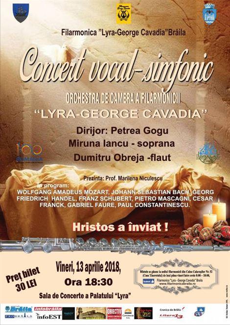 "Concert vocal-simfonic Filarmonica ""Lyra-George Cavadia"""