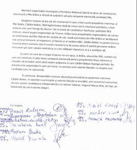 Membri din organizația municipală a PNL sprijină candidatura lui Adrian Tabarac
