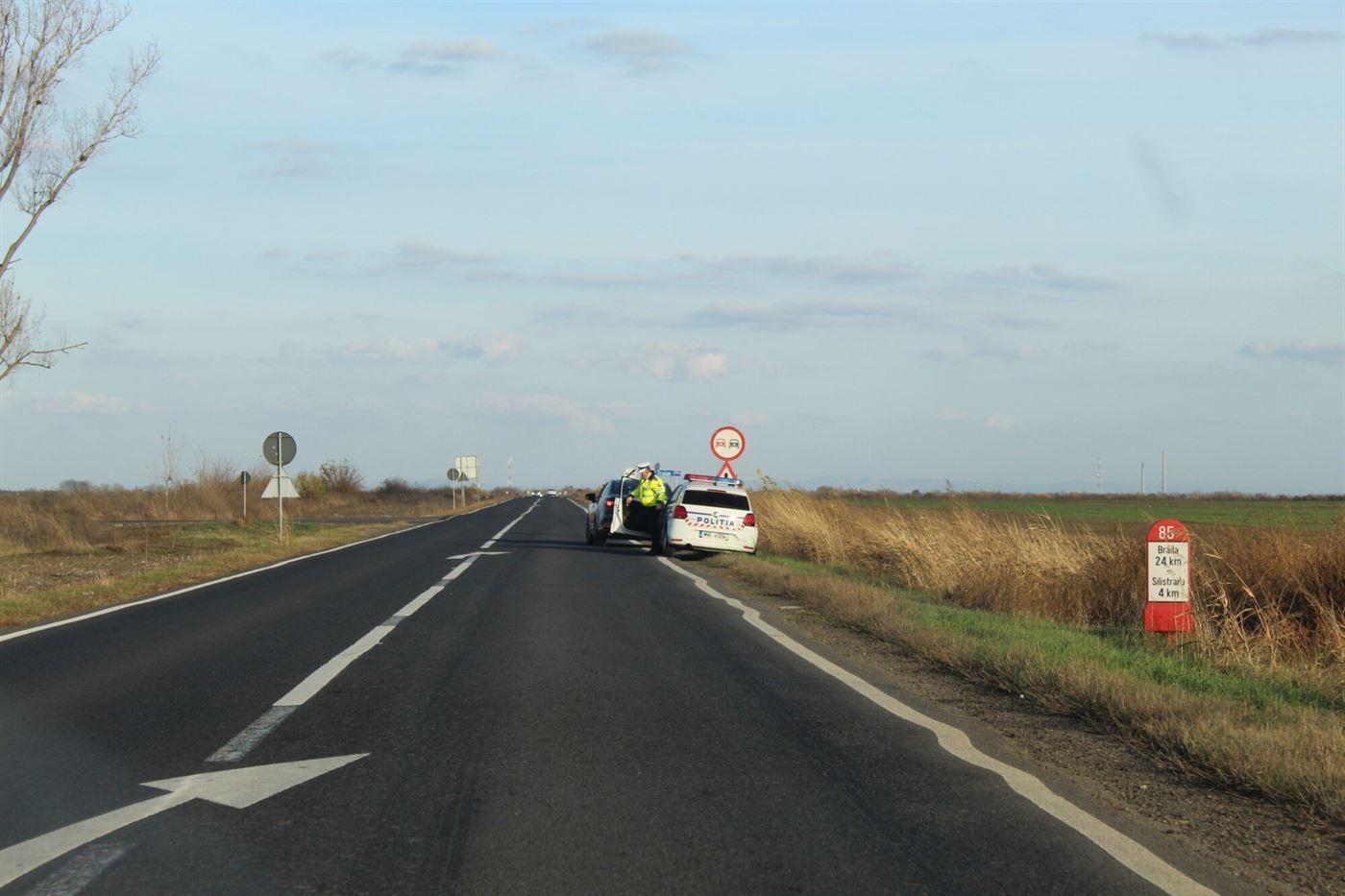 Brăilean depistat de radar cu 201km/h pe DN 2B, în afara localității Silistraru
