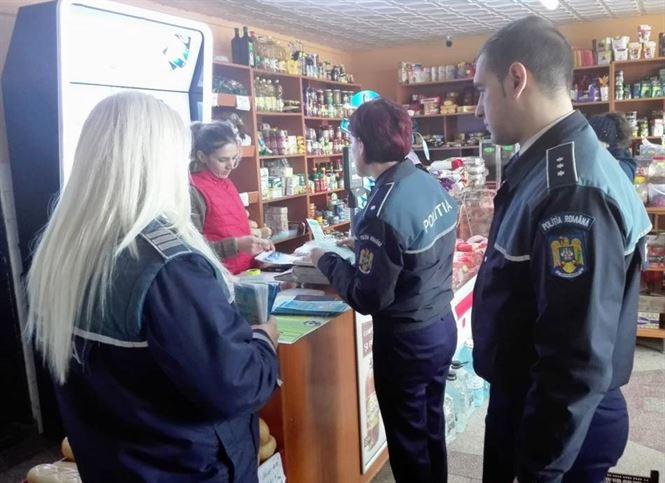 Poliţiştii se adresează vânzătorilor