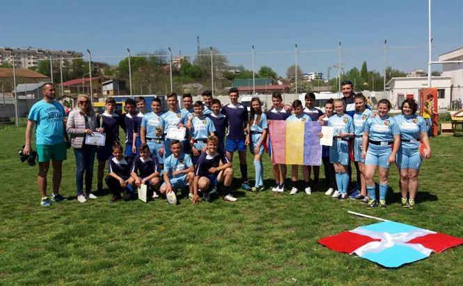 Echipa de rugby-tag a scolii din Stancuta s-a calificat la faza nationala a Gimnaziadei
