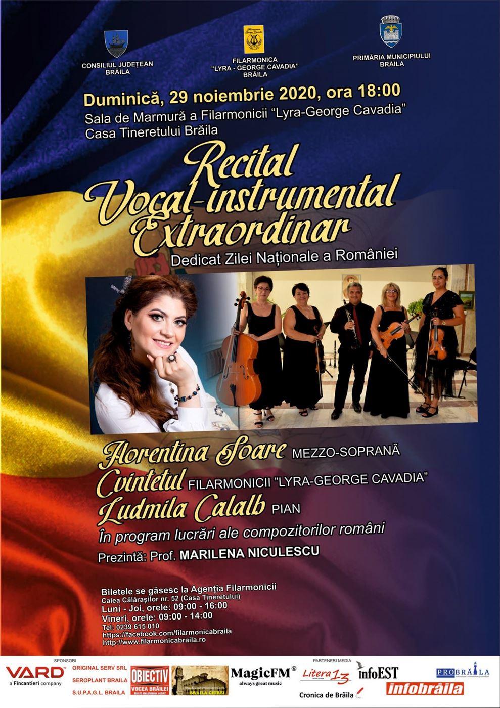 Recital vocal – instrumental extraordinar dedicat Zilei Naționale a României