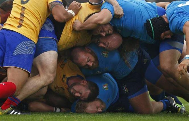 Braileanul Poparlan a marcat un eseu pentru Romania in meciul cu Italia
