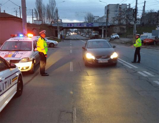 Polițiștii brăileni au lăsat 9 șoferi fără permis de conducere