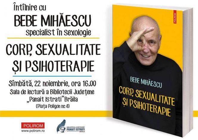 Intalnire cu sexologul Bebe Mihaescu la Biblioteca Judeteana