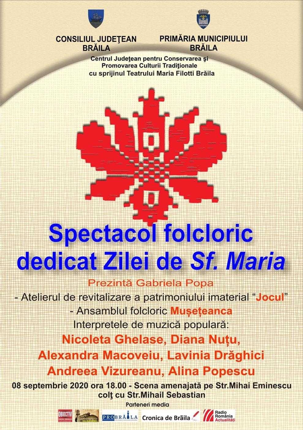 Spectacol folcloric dedicat Zilei de Sf. Maria
