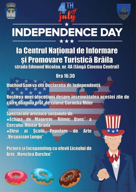 Ziua Independentei SUA sarbatorita pe 4 iulie la Braila