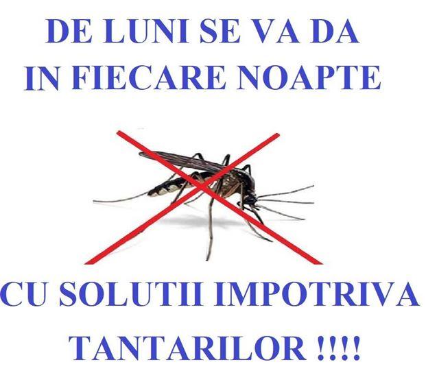 De luni va începe dezinseția terestră împotriva țânțarilor