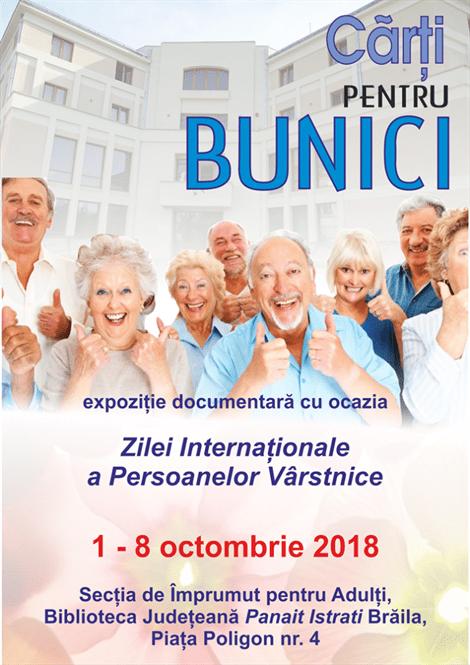 Cărți pentru bunici de Ziua internațională a persoanelor vârstnice